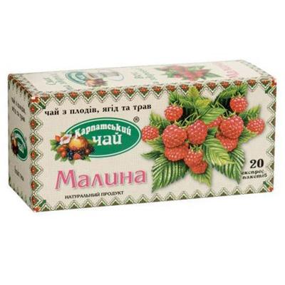 "Чай пакетированный Карпатский Чай ""Малина"" 2 г.х20 пак"