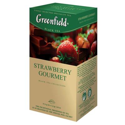 """Чай пакетированный Greenfield """"Strawberry Gourmet"""" 1.5 г.х25 пак."""