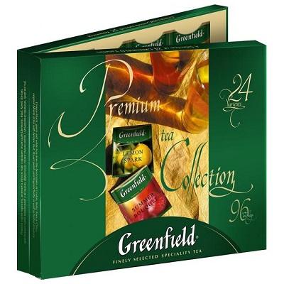 """Набор чая пакетированного ассорти Greenfield """"Premium tea Collection"""" (1.5 г.х96 пак.) 24-вида"""