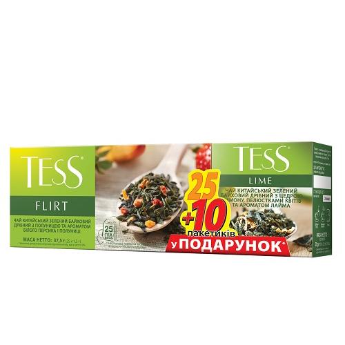 """Набор чая пакетированного TESS """"Flirt"""" (1.5 г.х25 пак.)/""""Lime"""" (1.5 г.х10 пак.)"""