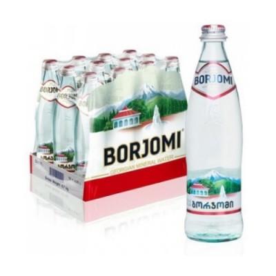 Упаковка минеральной воды Borjomi стекло с/газ 0.5 л.х12 шт.