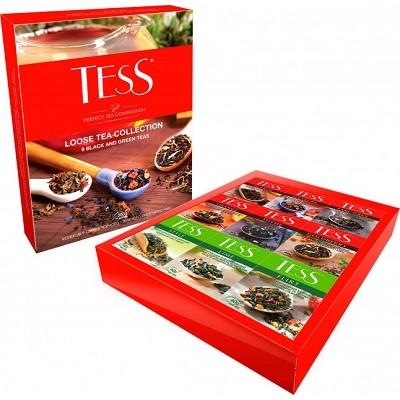 """Набор чая листового ассорти ТESS """"Loose Tea Collection"""" (355 г.) 9-видов"""