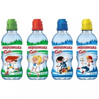 """Упаковка минеральной воды Моршинськая """"Спортик"""" ПЭТ н/г  0.33 л.х12 шт."""