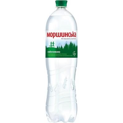 Упаковка минеральной воды Моршинская ПЭТ сл/г 1.5 л.х6 шт.