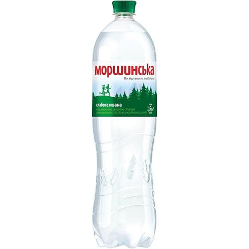 Упаковка мінеральної води Моршинська ПЕТ сл/г 1.5 л.х6 шт.