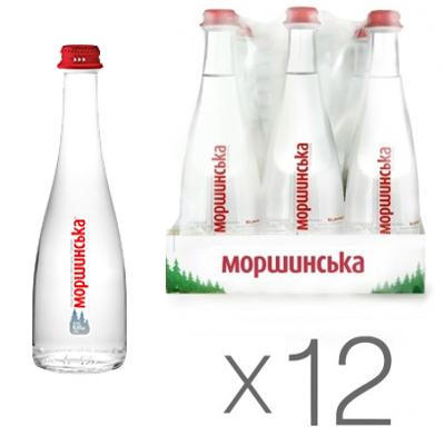 Упаковка минеральной воды Моршинская Premium стекло н/г 0.33 л.х12 шт.
