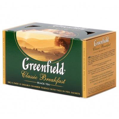 """Чай пакетированный Greenfield """"Classic Breakfast"""" 1.5 г.х25 пак."""