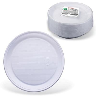 Тарелки пластиковые ArkaPlast 165 мм.100 шт/уп. белые