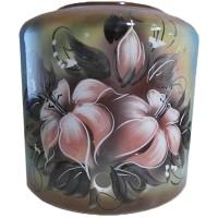 """Диспенсер керамічний ECO """"Квіти"""" коричневий"""
