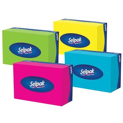 Салфетки гигиенические в коробке SELPAK 70 шт