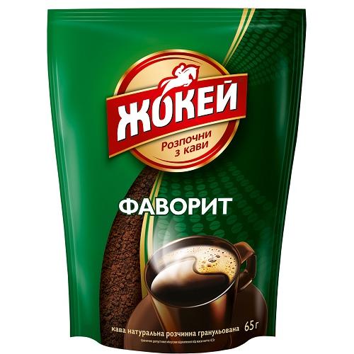 """Кава розчинна в гранулах Жокей """"Фаворит"""" (м/у) 65 гр."""