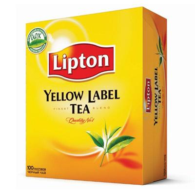 """Чай пакетований Lipton """"Yellow Label Tea"""" 100 пак."""