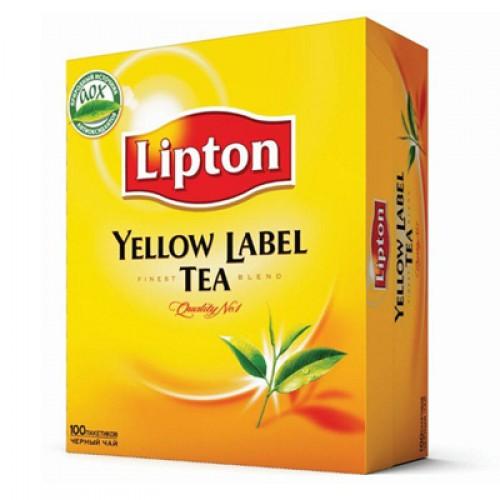 """Чай пакетированный Lipton """"Yellow Label Tea"""" 100 пак."""