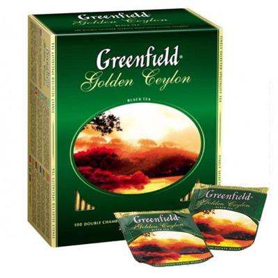 """Чай пакетированный Greenfield """"Golden Ceylon"""" 1.5 г.х100 пак."""