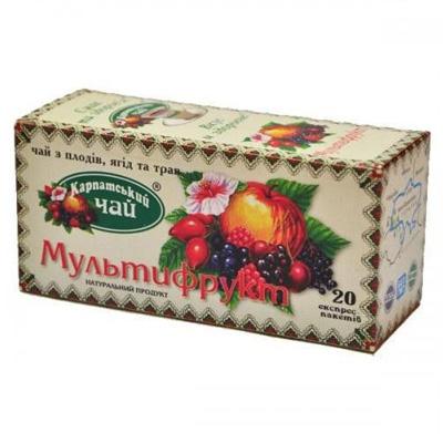"Чай пакетированный Карпатский ""Мультифрукт"" 2 г.х20 пак."