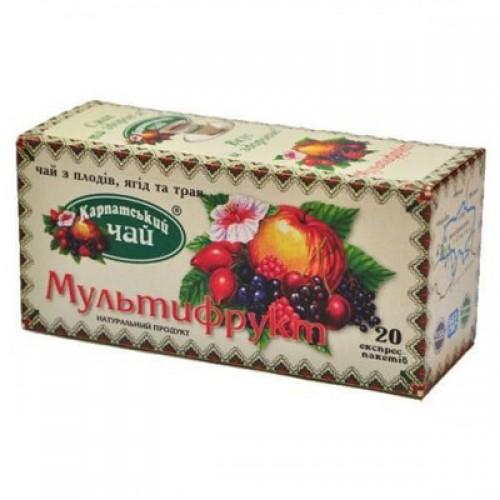 """Чай пакетований Карпатський Чай """"Мультифрукт"""" 2 г.х20 пак."""