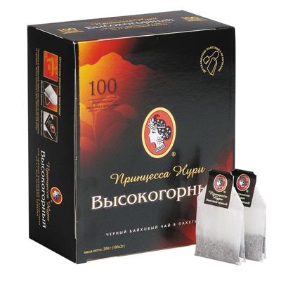 """Чай пакетитрованный Принцесса Нури """"Високогогрный"""" 100 пак."""