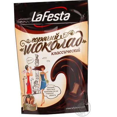 """Гарячий шоколад""""la Festa""""класик пакет 150 г."""