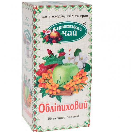 """Чай пакетований Карпатський Чай """"Обліпиховий"""" 2 г.х20 пак"""