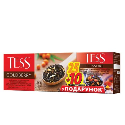 Набір пакетованого чаю TESS: Goldberry (1.5 гр.х25 пак.)/Pleasure (1.5 гр.х10 пак.)