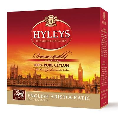 """Чай пакетированный Hyleys """"Английский Аристократический"""" 2 г.х100 пак."""
