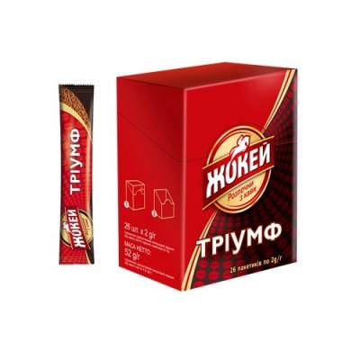 """Кофе растворимый в стиках Жокей """"Триумф"""" 2 гр.х26 шт."""