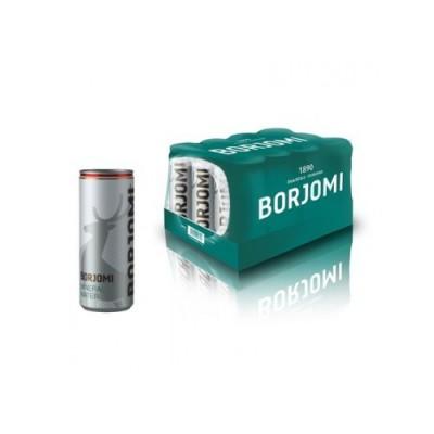 Упаковка минеральной воды Borjomi ж/б с/газ 0.33 л.х12 шт.