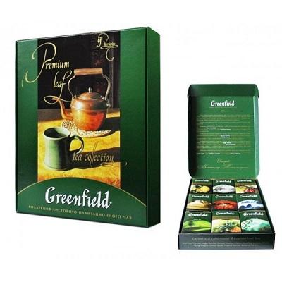 """Набор чая листового ассорти Greenfield """"Premium Leaf tea Collection"""" (390 г.) 9-видов"""