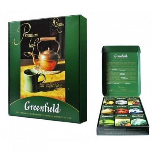 """Набір чаю листового асорті Greenfield """"Premium Leaf tea Collection"""" (390 г.) 9-видів"""