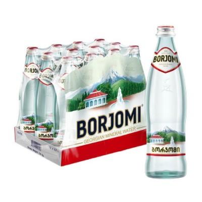 Упаковка минеральной воды Borjomi стекло с/га 0.33 л.х12 шт.