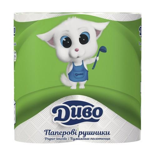 Полотенца бумажные Диво белые 2 рулона