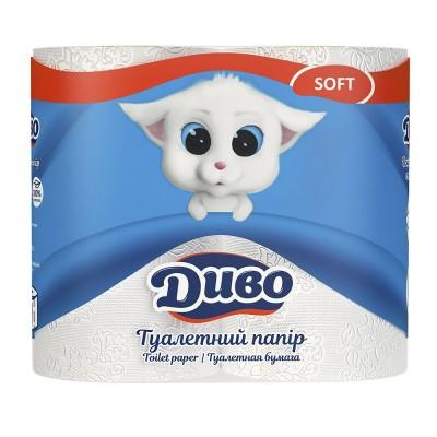 Туалетная бумага Диво Soft 4 рул/пак.