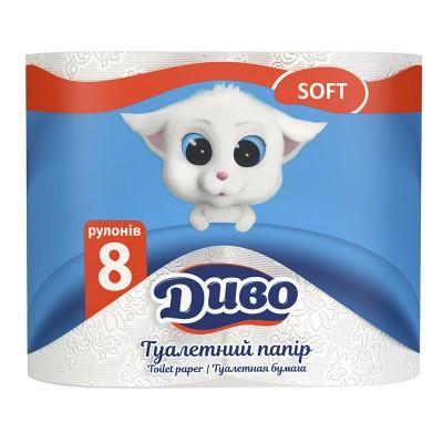 Туалетная бумага Диво Soft 8 рул/пак.