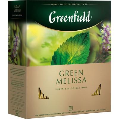 """Чай пакетированный Greenfield Greenfield """"Green Melissa"""" 1.5 г.х100 пак."""