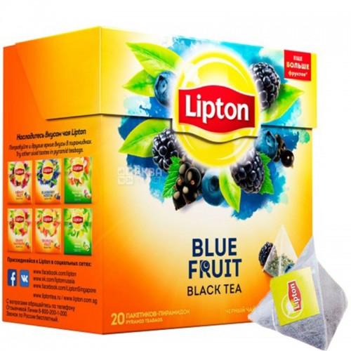 Чай пакетированный Lipton Blue Fruit Tea 20 пак. пирамидок