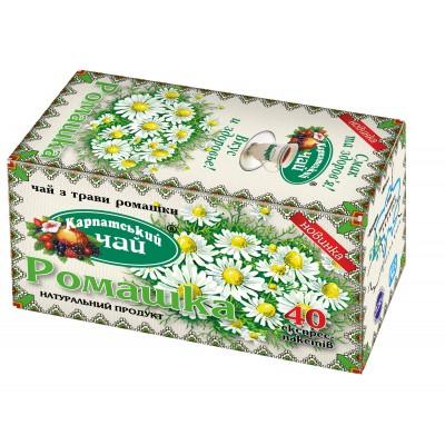 """Чай пакетований Карпатський """"Ромашка"""" 2 г.х40 пак"""