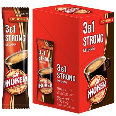 """Кофейный напиток 3в1 Жокей """"Strong"""" 10 стик.х12 гр."""