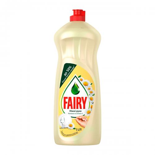 Средство для мытья посуды Fairy (Фейри) Ромашка и витамин Е 1л