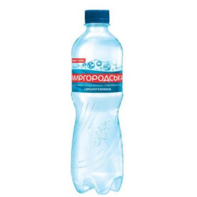 Упаковка минеральной воды Миргородськая ПЭТ газ. 0,5х12 шт