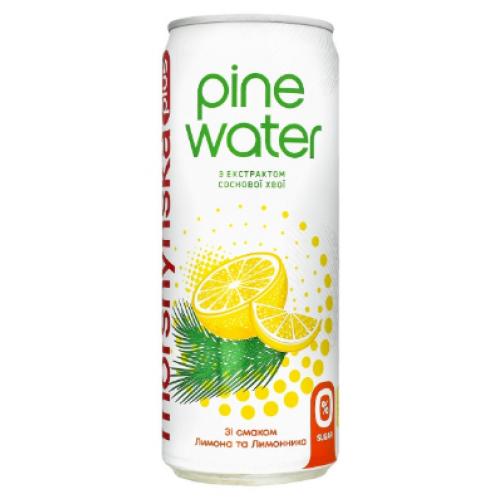 """Упаковка напою Моршинська+ """"Pine Water"""" Лимон-Лимонник 0.33 х12 шт."""