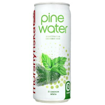 "Упаковка напитка Моршинская+ ""Pine Water"" Мята 0.33 х12 шт."